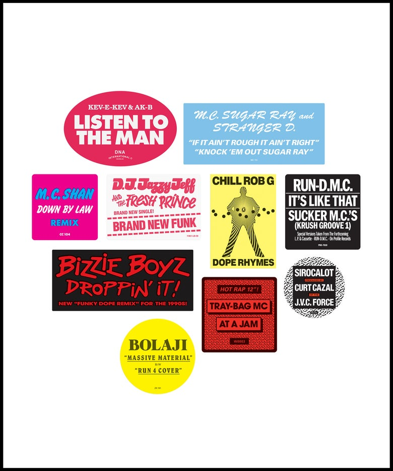 """Image of """"Don't Believe The Hype...Sticker"""" 1980s pack No. 2 (April 2021)"""