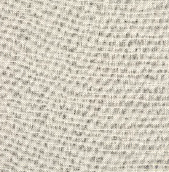 Image of 100% Washed Linen Eggshell Shade