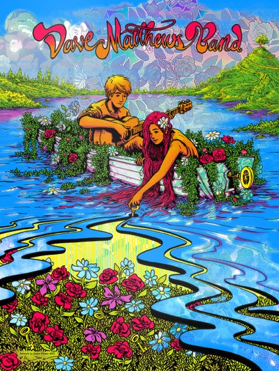 "Image of Dave Matthews Band - ""Everyday"" Poster - Rose Garden HoloFoil Variant"