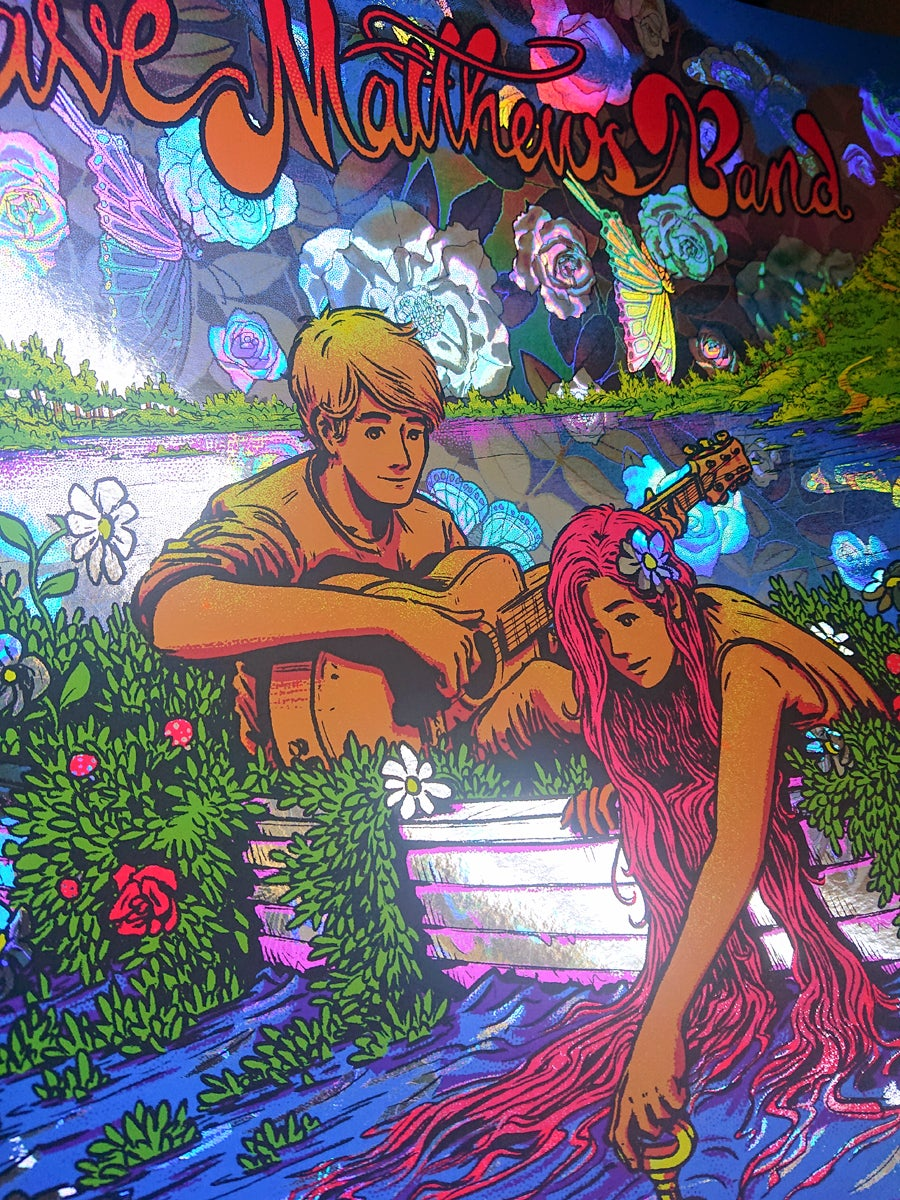 """Image of Dave Matthews Band - """"Everyday"""" Poster - Rose Garden HoloFoil Variant"""