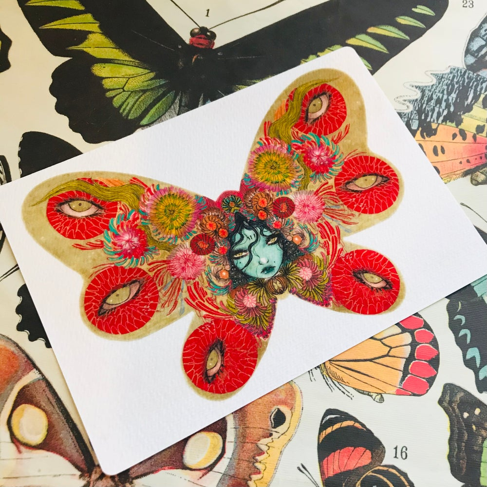 Image of Butterfly girl A5 print
