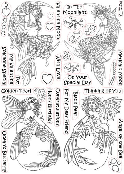 Image of Linda Ravenscroft Mythical Creatures - Mermaids stamp collection
