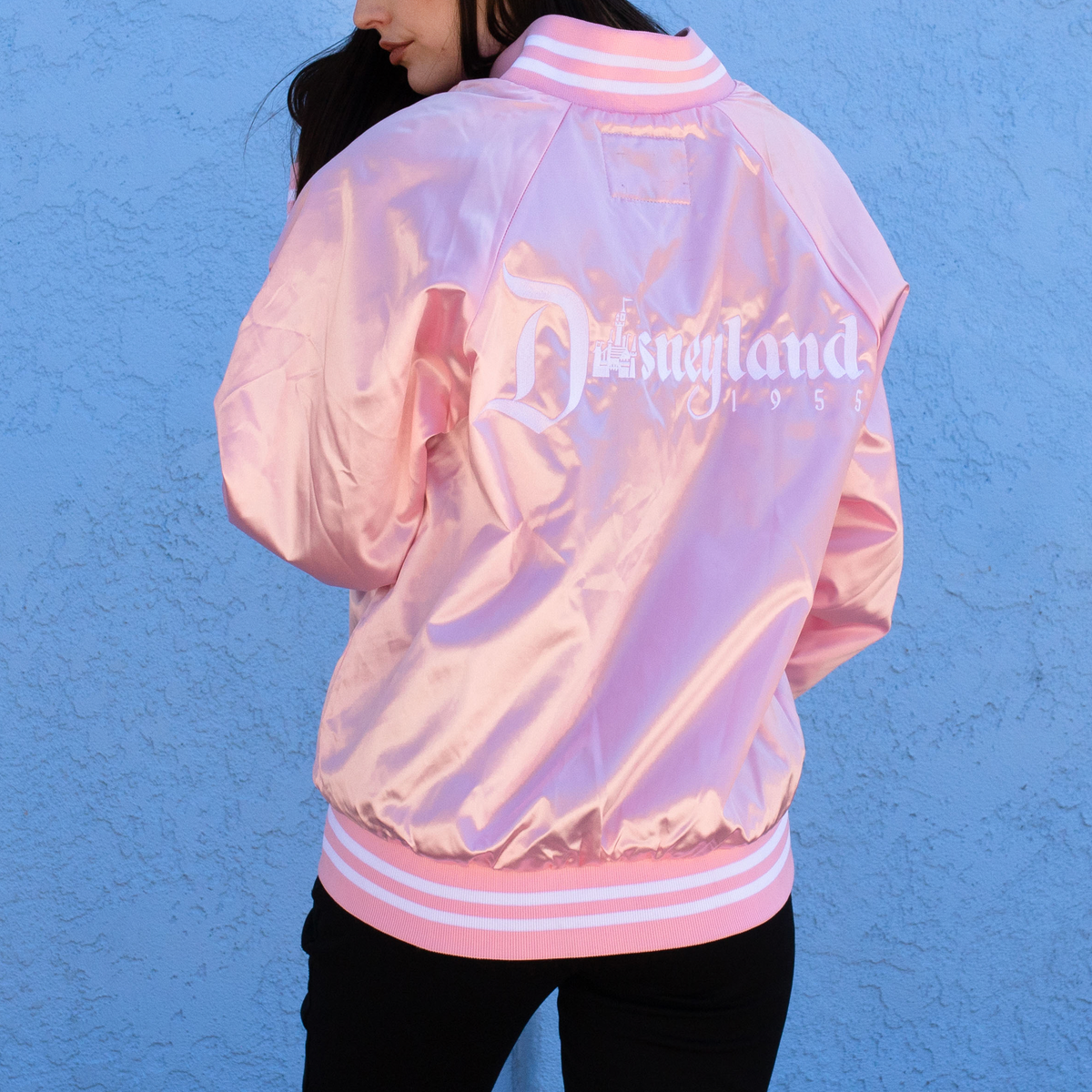 Image of 1955 Striped Bomber Jacket Pink