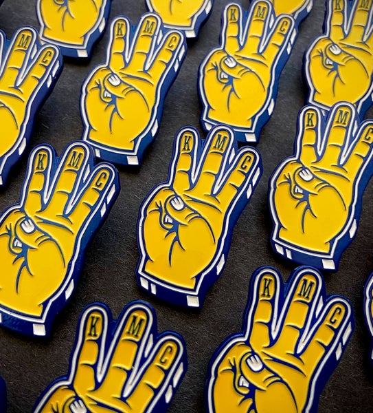 Image of Division Three foam hand pin