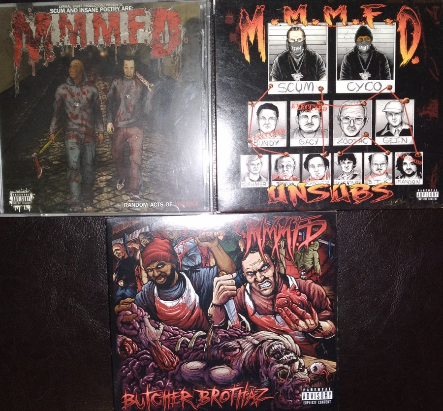 Image of M.M.M.F.D - 3 pack CD special: Unsubs & Random Acts of Violence & Butcher Brothaz