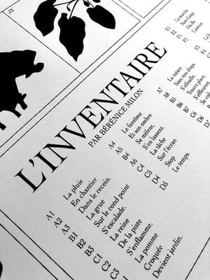 L'inventaire - Bérénice Milon