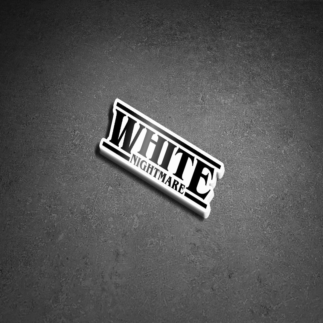 White Nightmare Die Cut Stickers