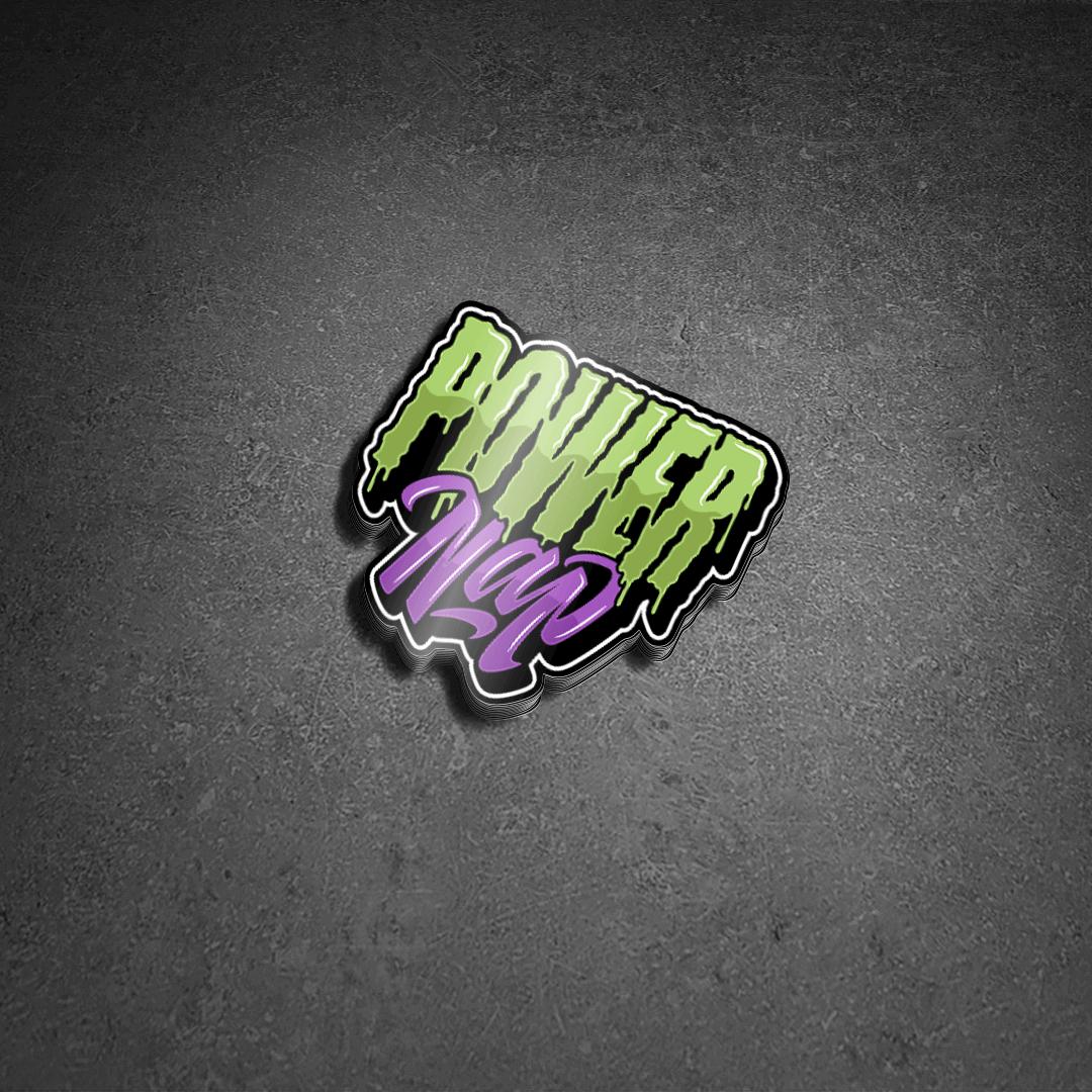 Power Nap Die Cut Stickers