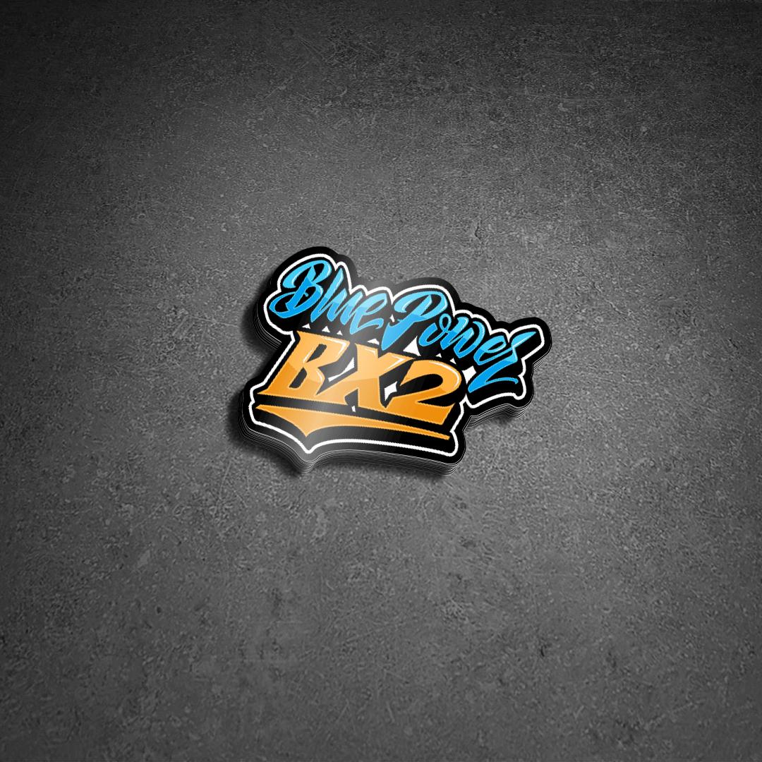 Blue Power BX Die Cut Stickers