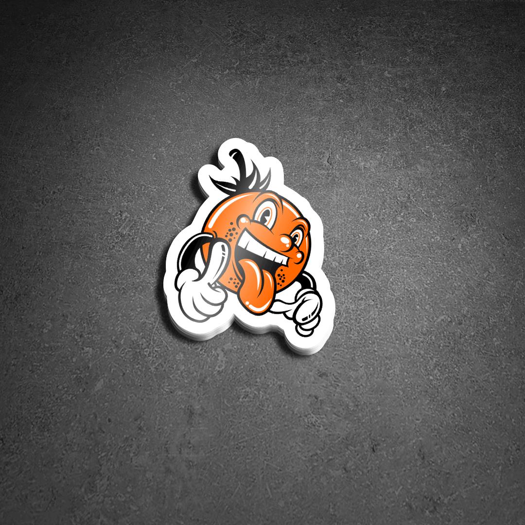 Tangerine Power Die Cut Sticker Pack