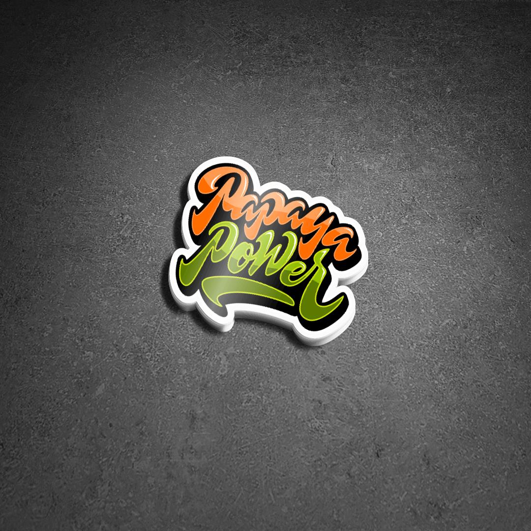 Papaya Power Die Cut Sticker Pack