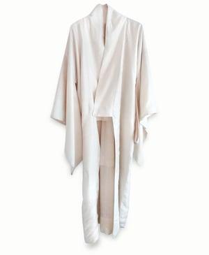 Image of Råhvid silke kimono af råsilke