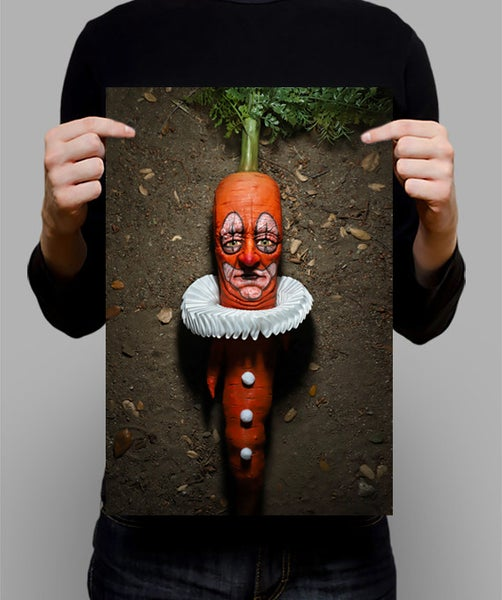 "Image of SIGNED Poster - Clown Carrot 11"" X 17"""