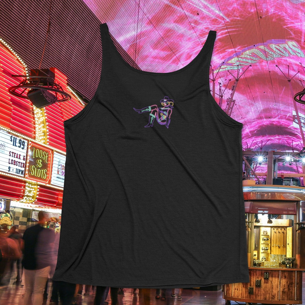 **PRE-ORDER** Women's Neon SinCIty Seeds Flowy Tank - Black