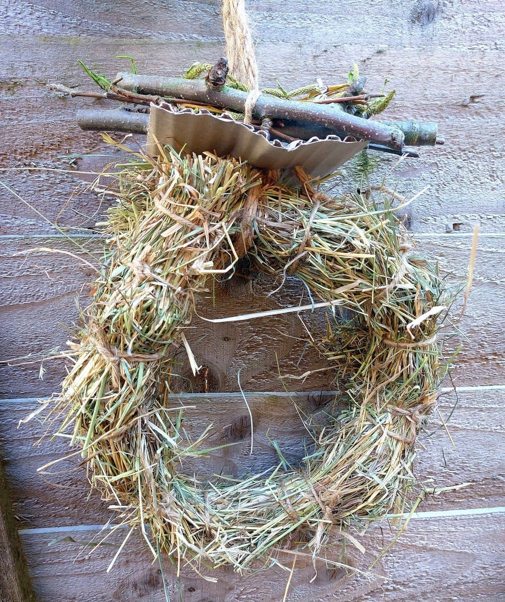 Image of Meadow hay ring with branch bunch