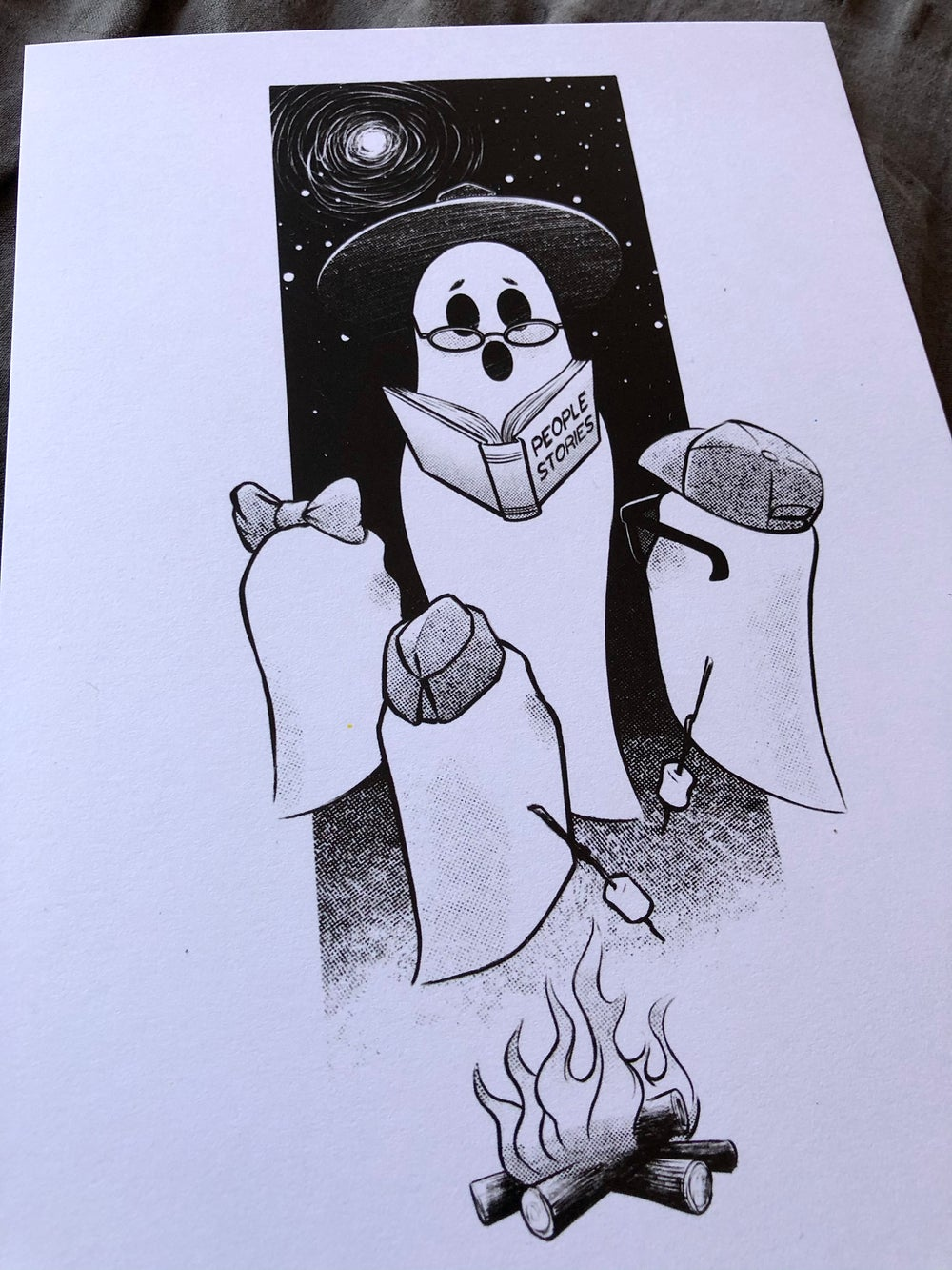 Ghost stories (black and white print)