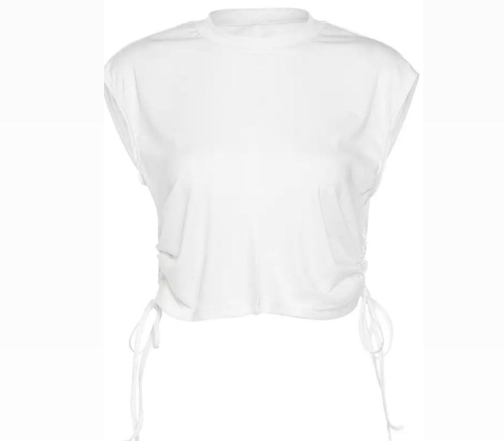 Image of White Drawstring | Top