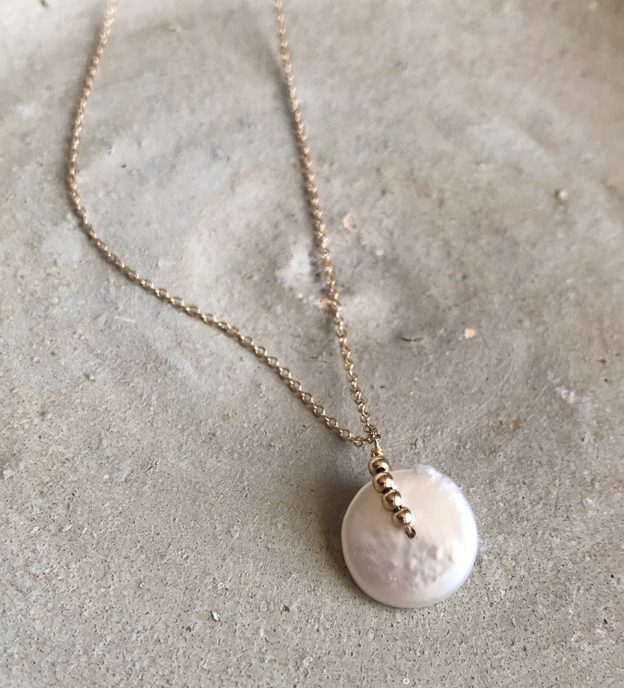 Image of White Pearl on Dainty Gold Chain