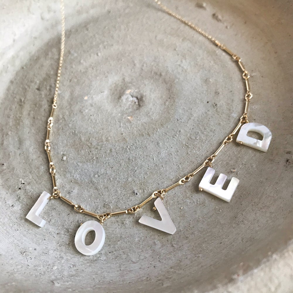 Image of 'Loved' Necklace on Gold Filled Chain