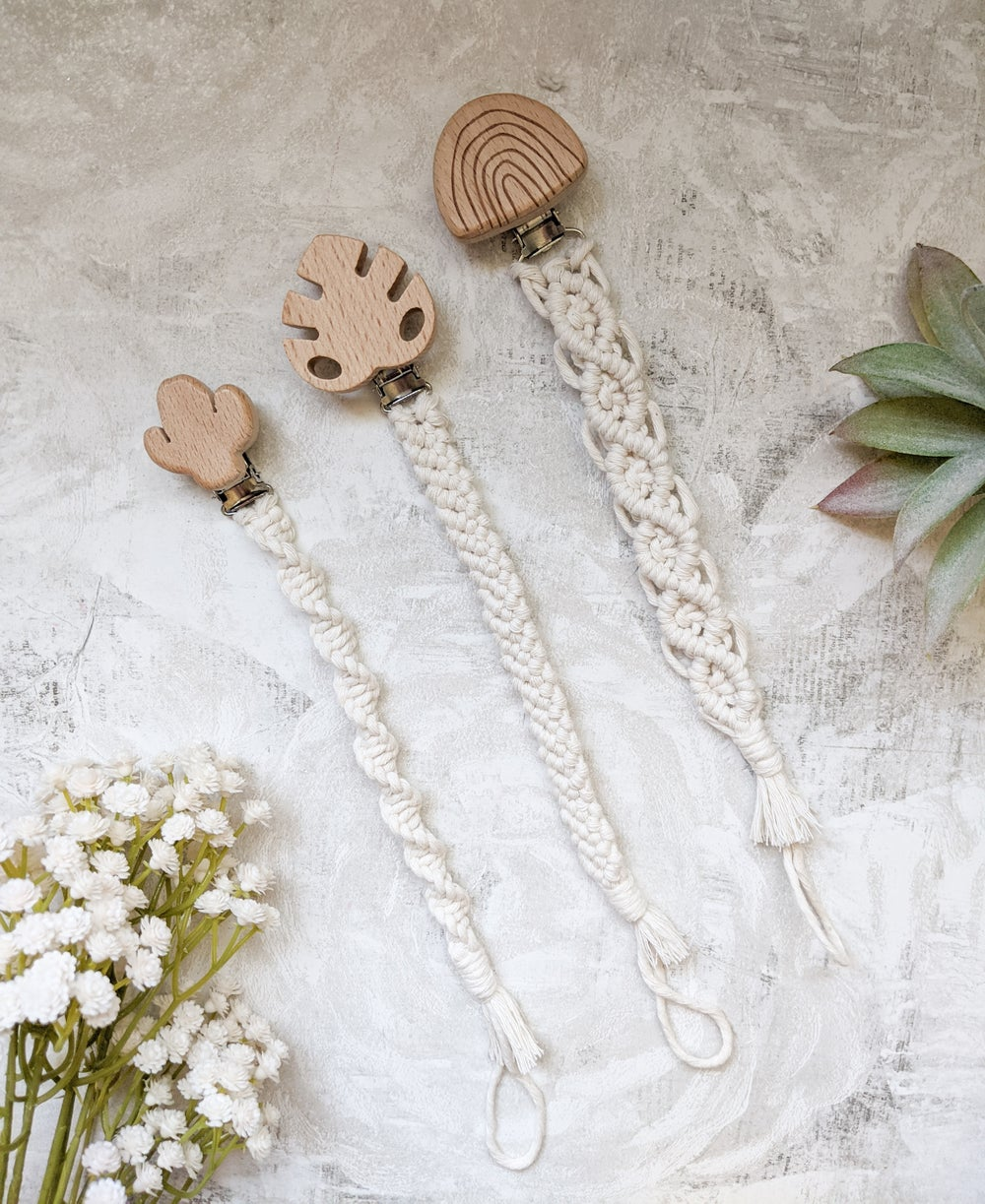 Image of Macramé Pacifier Clips
