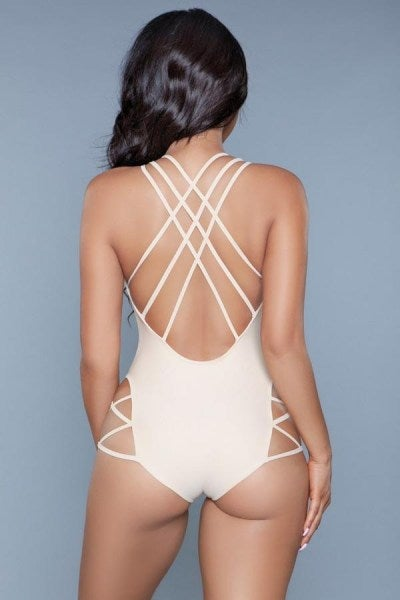 #Heartbreaker Crisscross Plunging Swimsuit