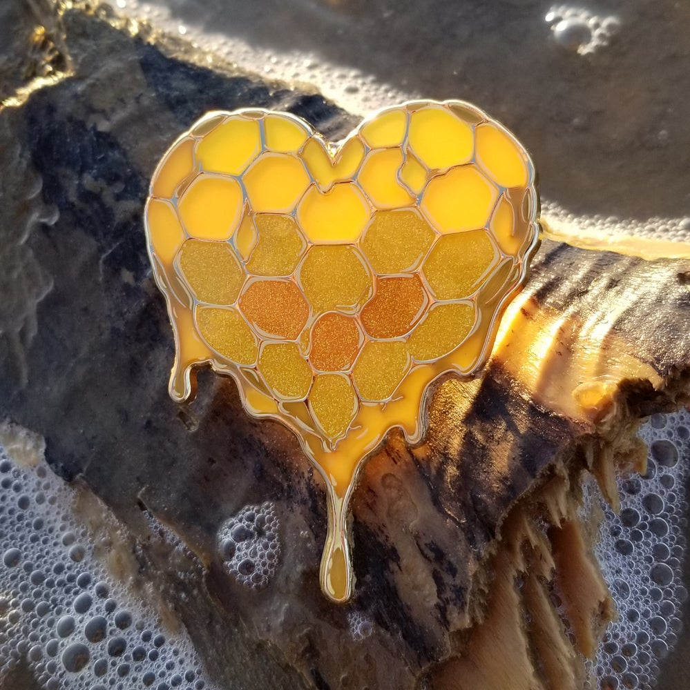 Image of Heart of Liquid Gold Pin