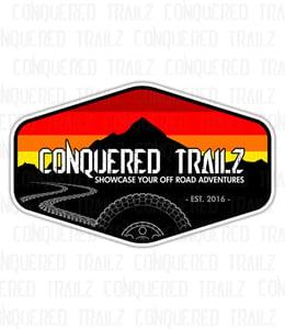 Image of Retro Conquered Trailz Decal
