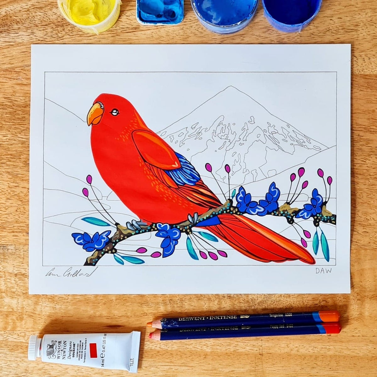 Image of Red Lory and Olympia