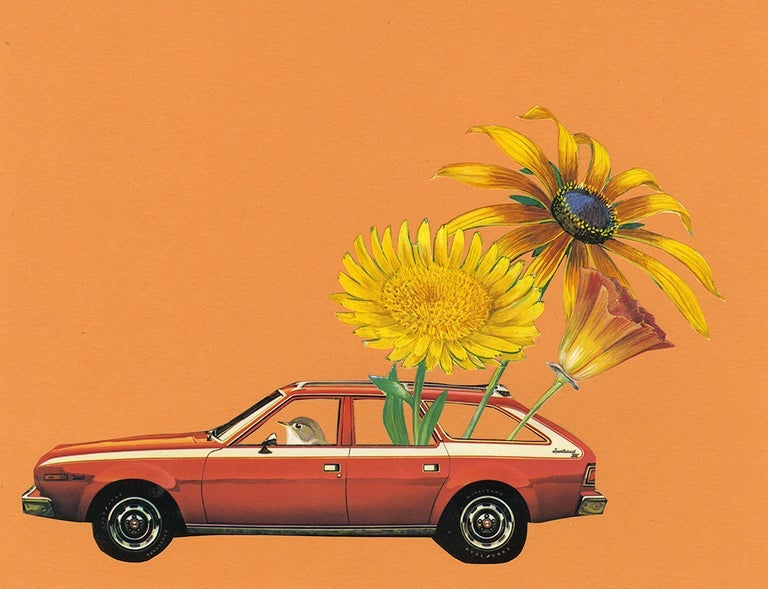 Image of Good day sunshine. Limited edition collage print.