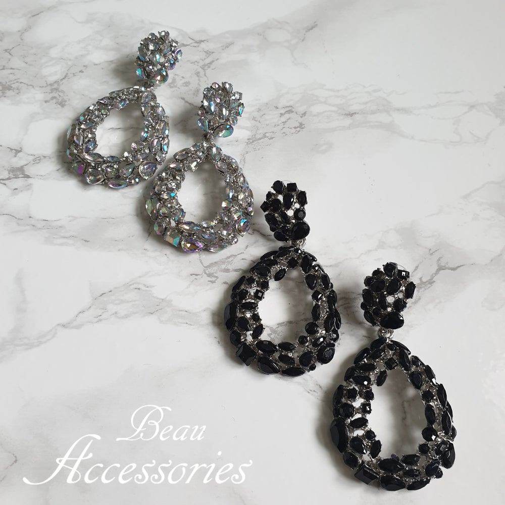 Image of Oval Statement Earrings