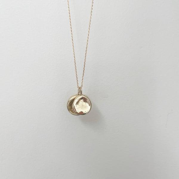 Image of Fingerprint Necklace - 9ct Solid Gold