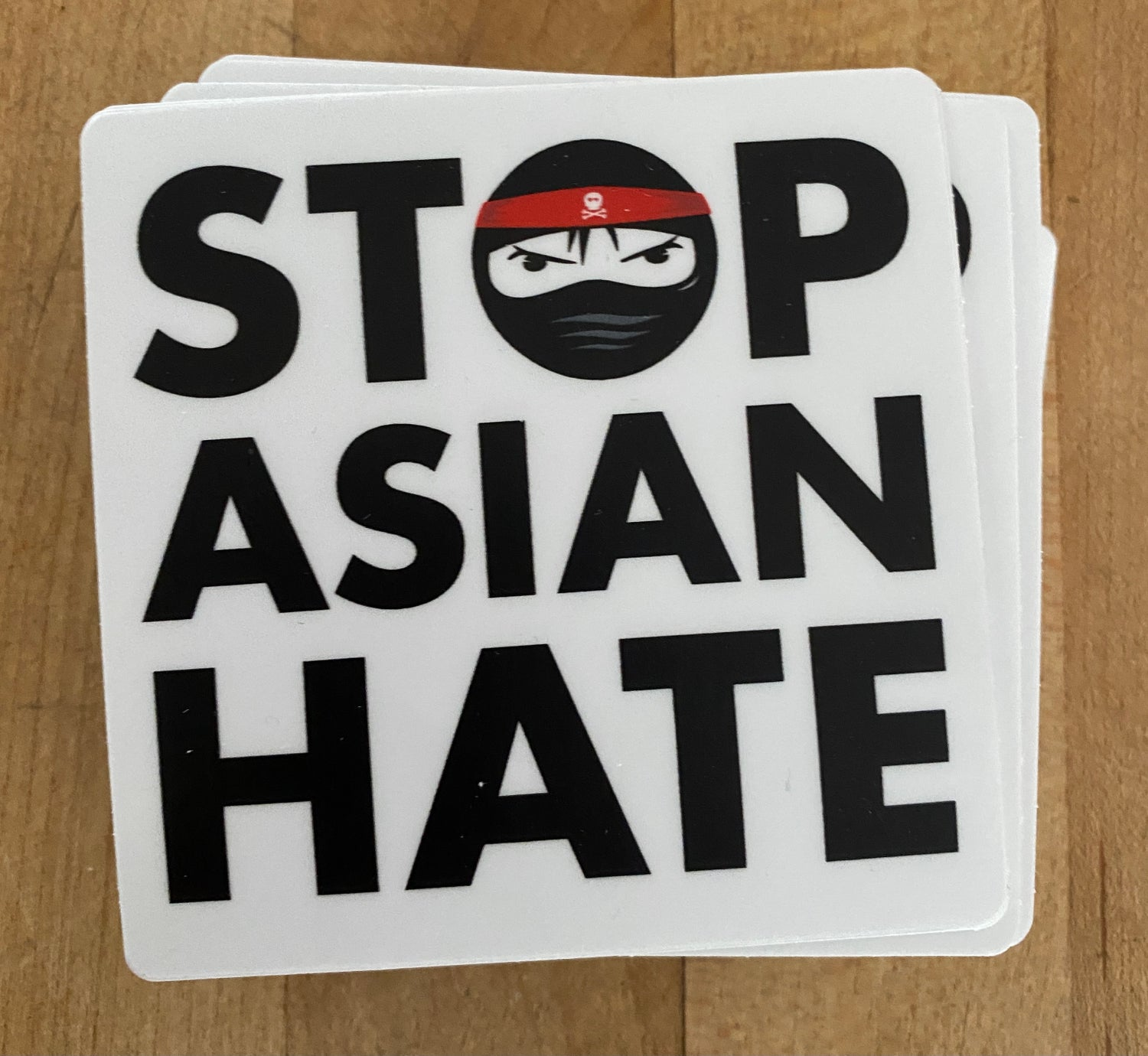 "Image of Stop Asian Hate 3"" square"