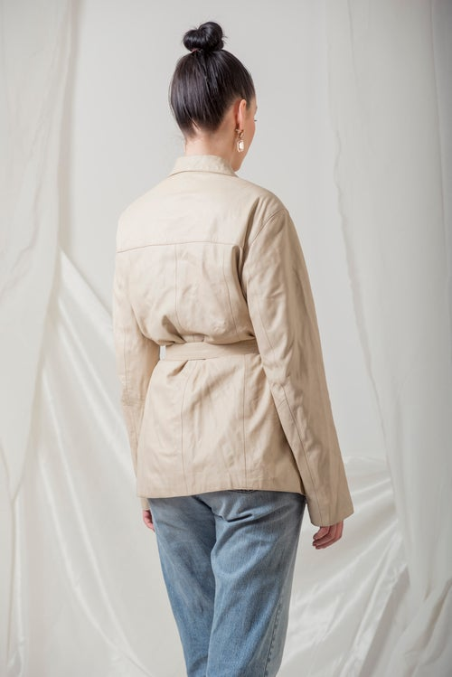 Image of Leather Beige Jacket