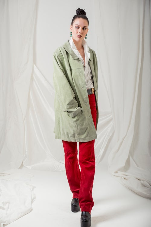Image of Green Suede Jacket