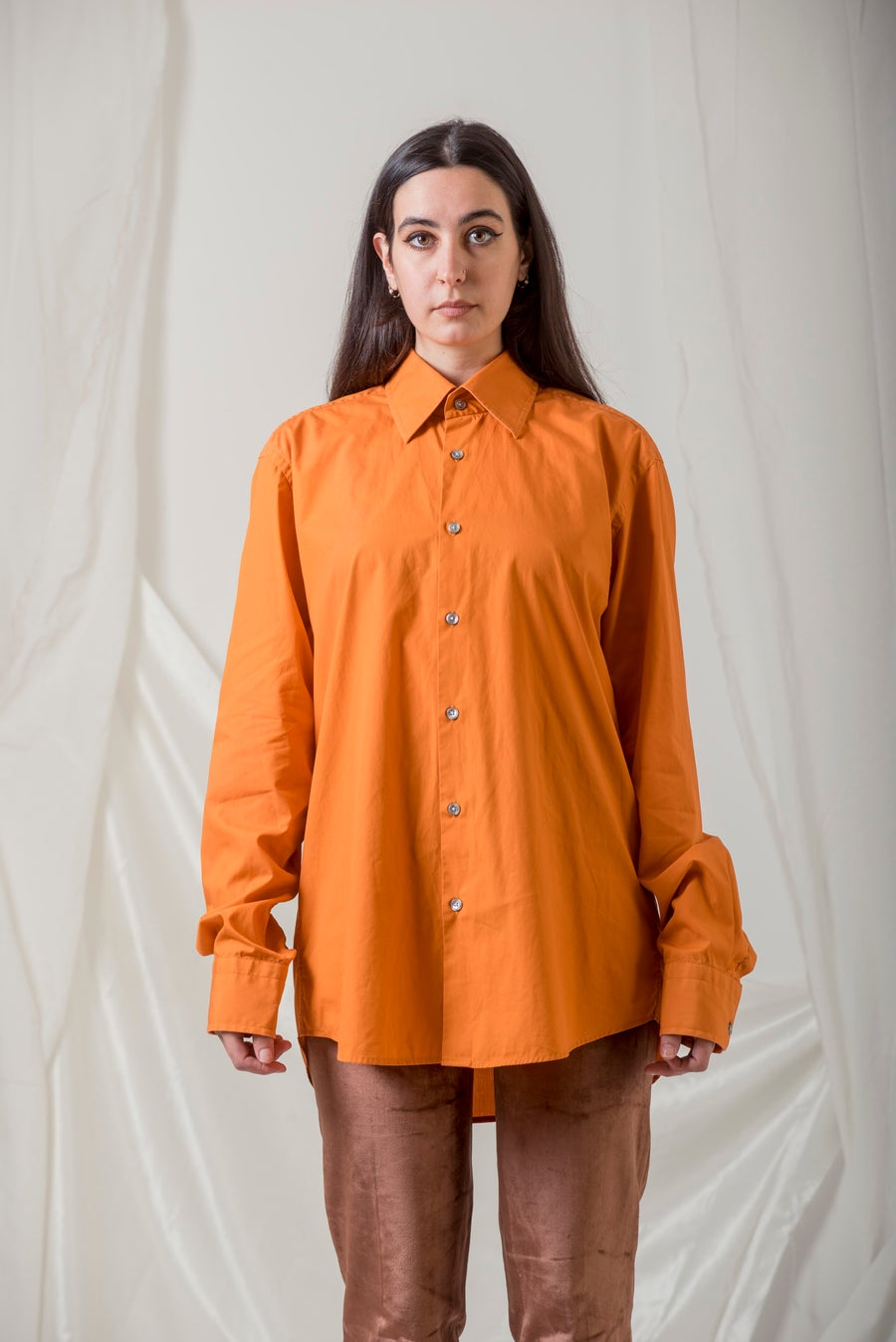 Image of Orange Hugo Boss Button Up Shirt 100% Cotton