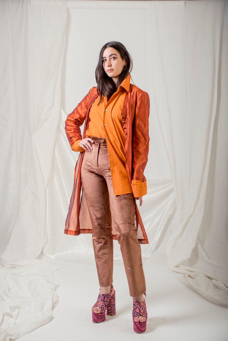 Image of Organza Rust Orange Vest