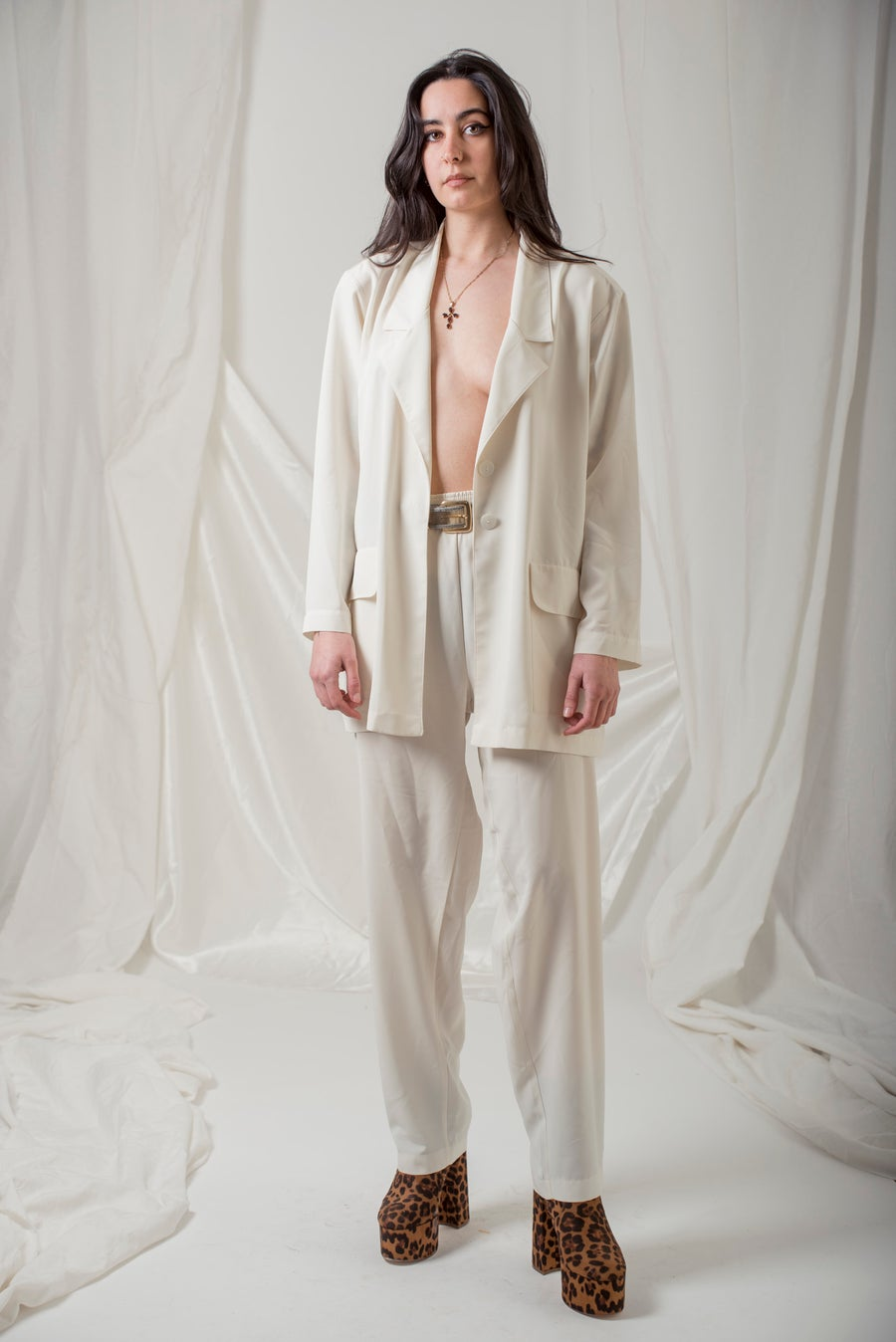 Image of White 'Ester Ken' Parisian Couture Set