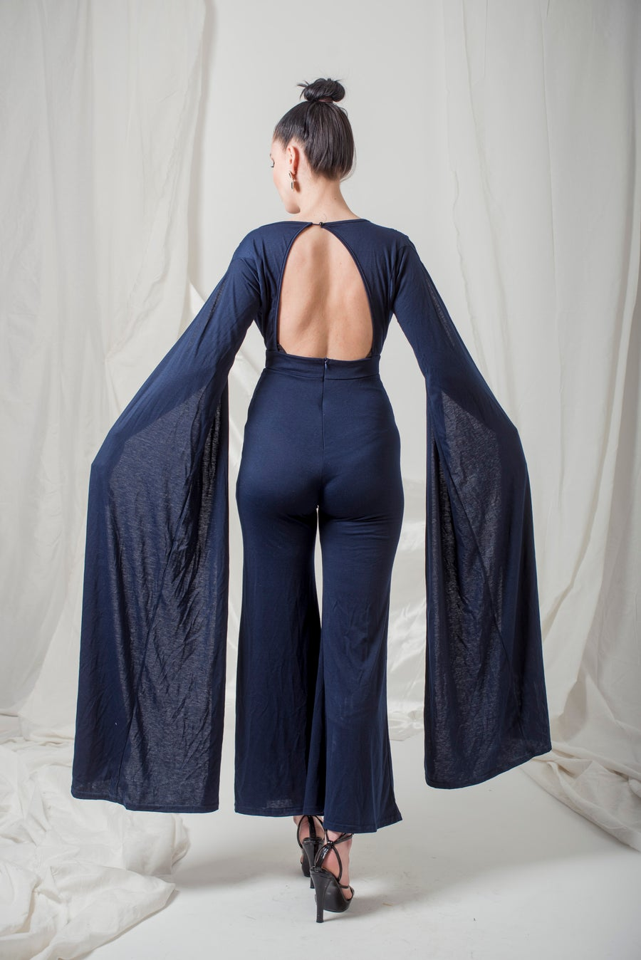 Image of Marine Blue Jumpsuit