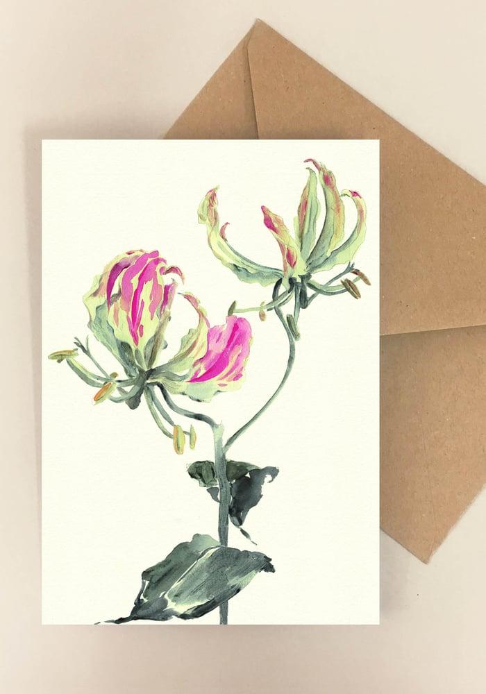 Image of 5 notecards Gloriosa No. 1022