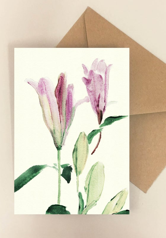 Image of 5 Notecards Lilium No. 1023