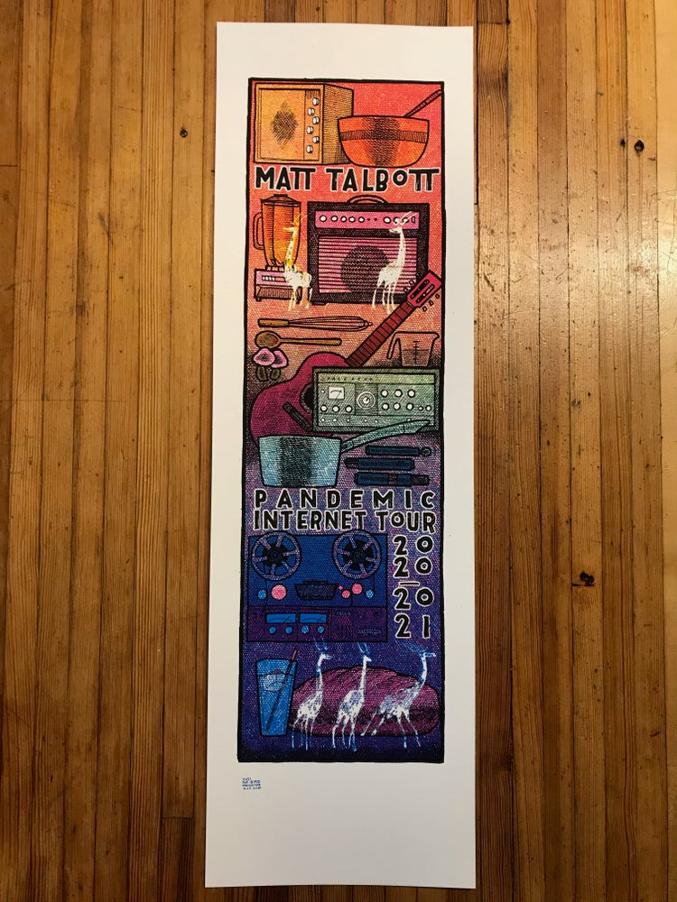 Image of Matt Talbott Pandemic Tour Poster