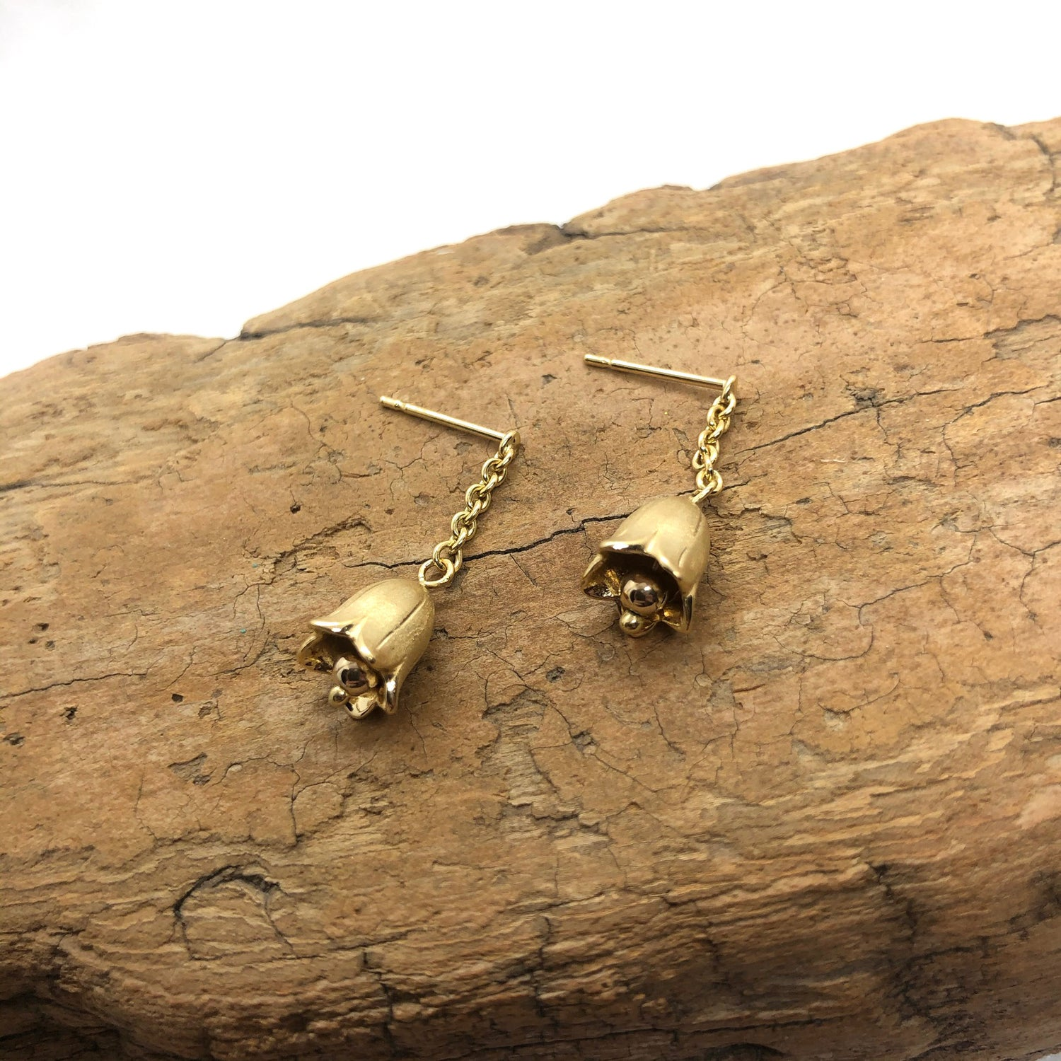 Image of 18K Lily of the Valley Earrings