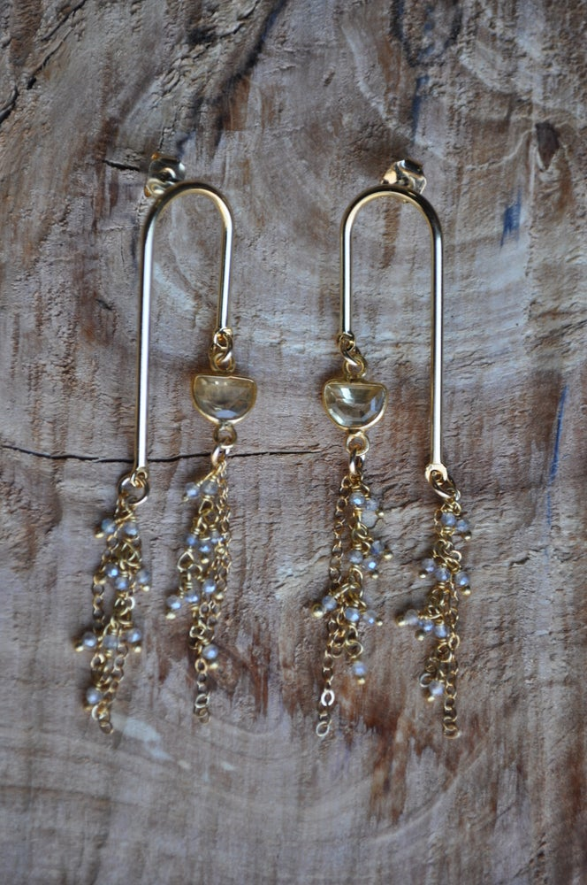 Image of Citrine and Labradorite Hozho Dangles