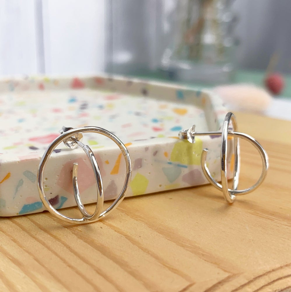 Image of Double hoop earrings