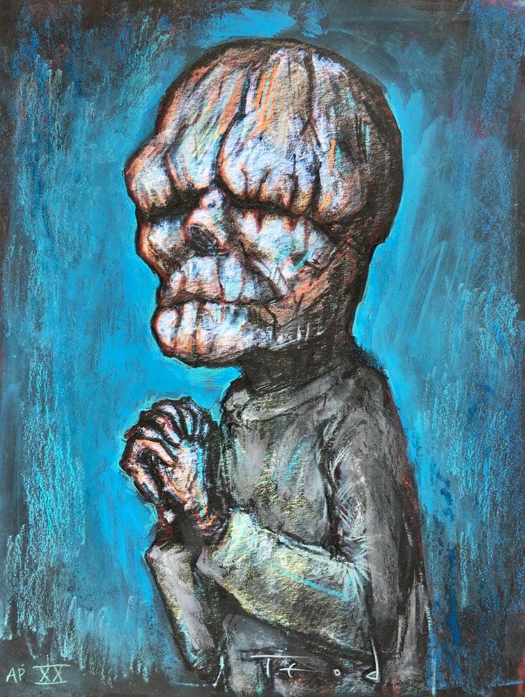 """Image of Teod """"The Butler"""" Artist Embellished AP Giclée number 20"""