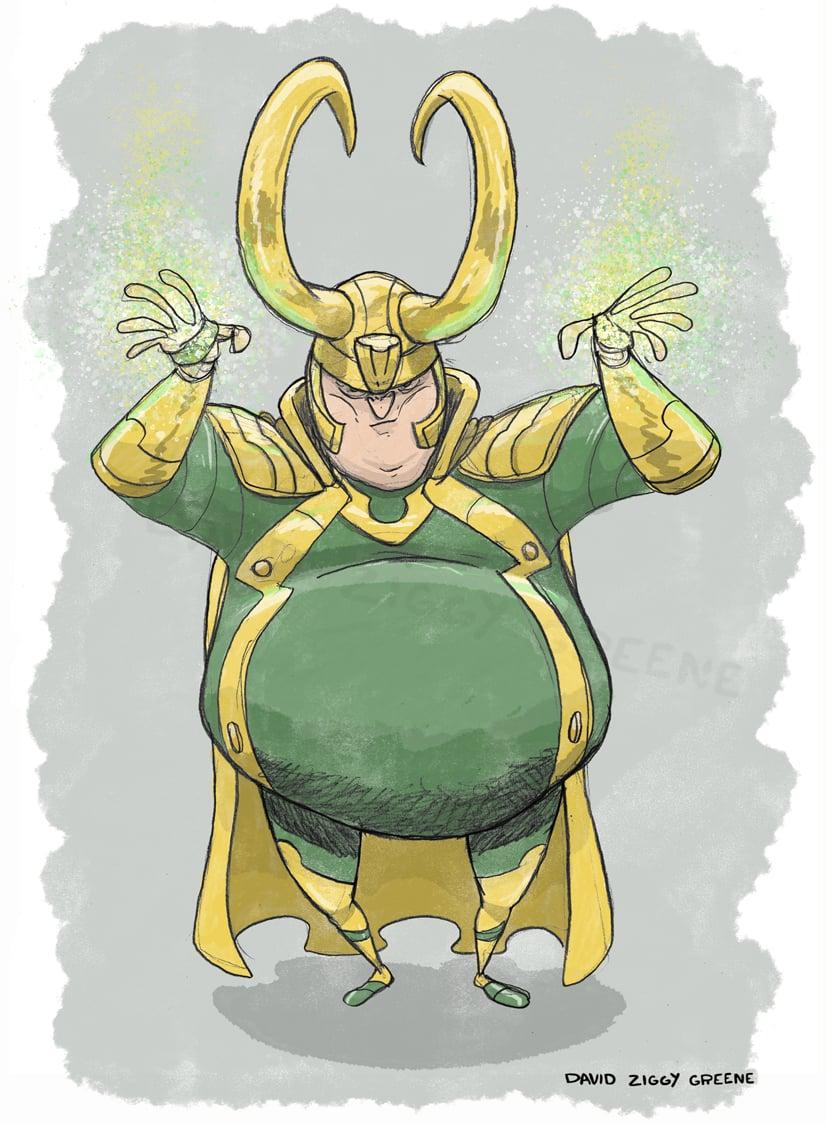 Chonky Loki print