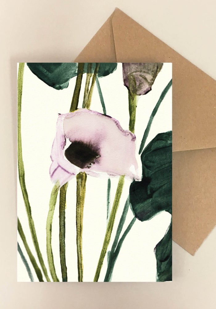 Image of 5 Notecards folded Calla No.1005