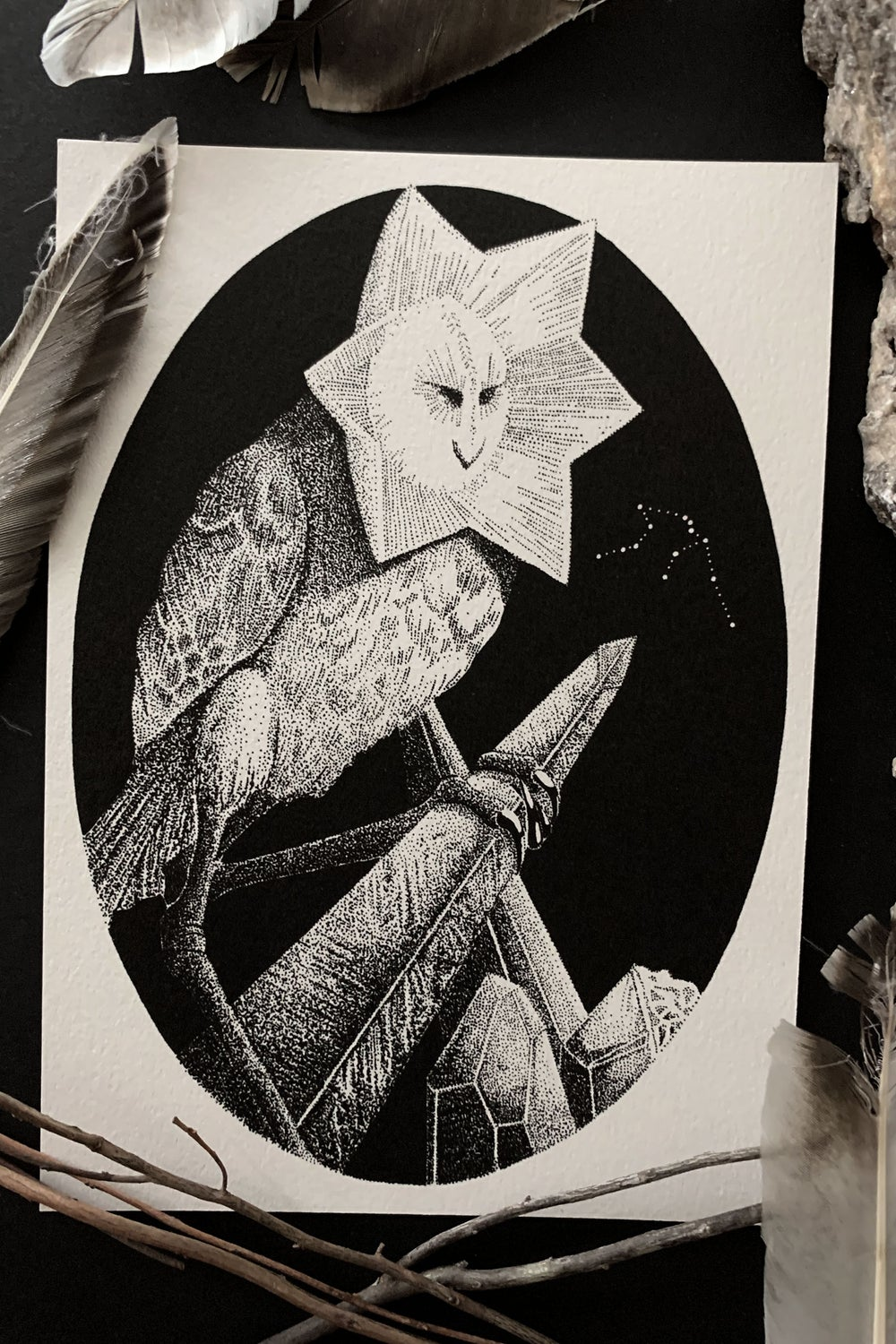 """Stolas"" 5 x 7 inch Print (Astrological constellation variants available!)"
