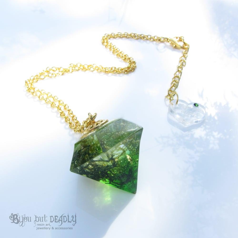 Real Moss Botanical Resin Pendulum Pendant