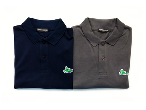 Image of 'MATING GATOR' L/S POLO [NAVY & SLATE]